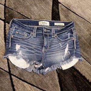 Daytrip high-rise jean shorts
